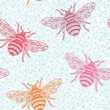 Bee_pattern3 Στοκ Εικόνα