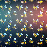 Bee pattern blurred background. vector Royalty Free Stock Images