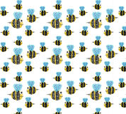 Bee pattern on clear background. EPS10 available, buyer can change background colour from EPS10 file Royalty Free Stock Image