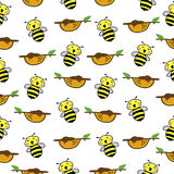 Bee Pattern Seamless  background. Stock Photography