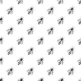Bee pattern, simple style Royalty Free Stock Images