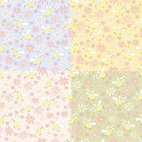 Bee patterns Royalty Free Stock Image