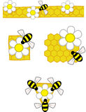 Bee patterns Stock Image