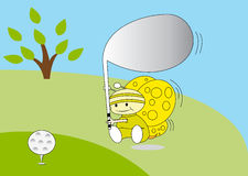 Bee play golf Stock Images