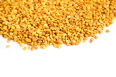 Bee pollen. Pile over the white background Royalty Free Stock Image