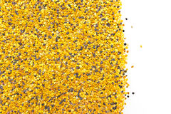 Bee Pollen. On a white background royalty free stock photography