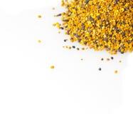 Bee Pollen. On a white background stock photos