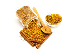 Bee Pollen And Cinnamon Royalty Free Stock Photography