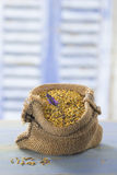 Bee pollen in a bag Stock Photos