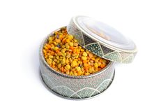 Bee pollen baskets isolated on white background.  royalty free stock photography