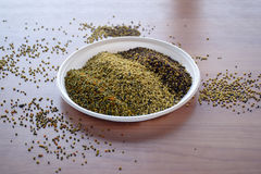 Bee pollen in the bowl closeup Royalty Free Stock Image