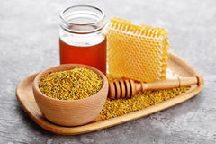 Bee pollen Stock Photos