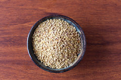 Bee pollen in bowl top view Royalty Free Stock Photos