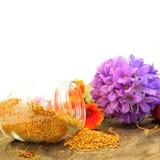 Bee pollen copy space Stock Photo