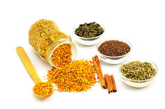 Bee Pollen and flavoring Royalty Free Stock Images