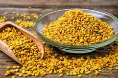 Bee pollen grains royalty free stock photos