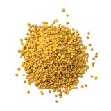 Bee pollen granules isolated on white background.  stock image