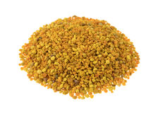 Bee pollen granules on a white background Stock Photos