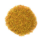 Bee pollen granules on a white background Stock Image