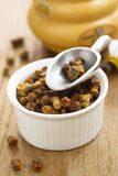Bee pollen. Organic bee pollen in white bowl royalty free stock images