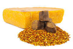 Bee pollen and propolis wax Stock Photography