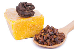 Bee pollen and propolis wax Royalty Free Stock Image