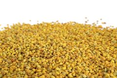 Raw Organic Bee Pollen. Bee pollen on white background. Bee Pollen is one of the richest and purest natural foods ever discovered, and the incredible nutritional royalty free stock photo
