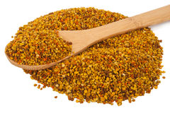 Bee pollen with wooden spoon Stock Image