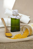 Bee propolis oil Stock Photo