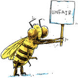 Bee Protest Royalty Free Stock Photography