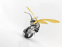 Bee robot. A bee robot insect transport the world Royalty Free Stock Photo
