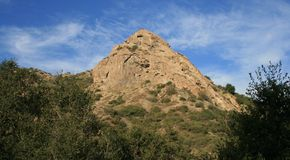 Bee Rock. In Griffith Park, Los Angeles Stock Image