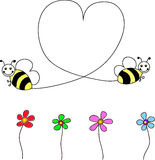 Bee`s heart Royalty Free Stock Images