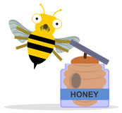 Bee's honey Royalty Free Stock Photography