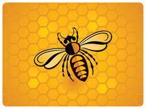 Bee, schematic icon Royalty Free Stock Image