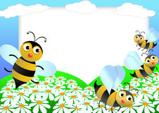 Bee scrapbook Stock Images