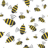 Bee seamless pattern. Royalty Free Stock Image