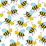 Bee seamless pattern Royalty Free Stock Photo