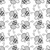 Bee seamless pattern background. Vector EPS 10. Bee seamless pattern background. Vector illustration Vector Illustration
