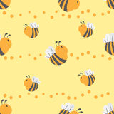 Bee seamless pattern Royalty Free Stock Image