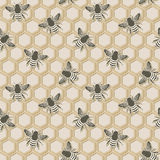 Bee seamless pattern Royalty Free Stock Photos