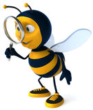 Bee searching stock illustration