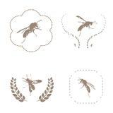 Bee set. Vector royalty free illustration