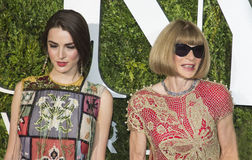 Bee Shaffer and Anna Wintour Stock Photos