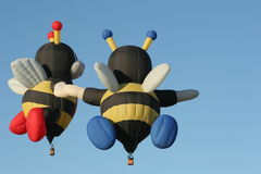 Bee shaped hot air balloon Royalty Free Stock Image