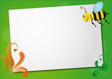 Bee sheet Stock Image