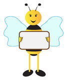 Bee With A Sign Board Royalty Free Stock Photos