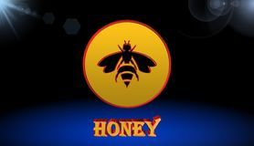 Bee,sign,icon,best 3D illustration. Bee,sign,best icon,3D illustration Royalty Free Stock Photos