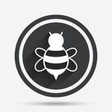 Bee sign icon. Honeybee or apis symbol. Royalty Free Stock Photo