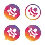 Bee sign icon. Honeybee or apis symbol. Stock Image